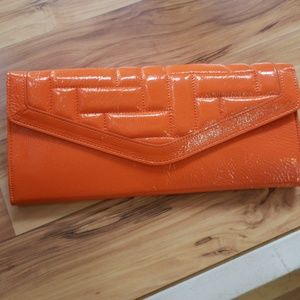 Hobo international  Gloss Sherbet Orange Clutch